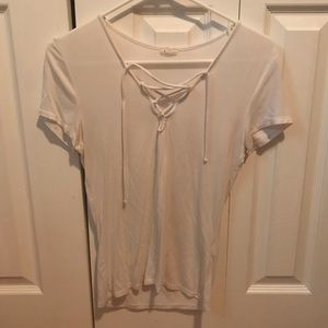 Garage Lace-Up T-Shirt